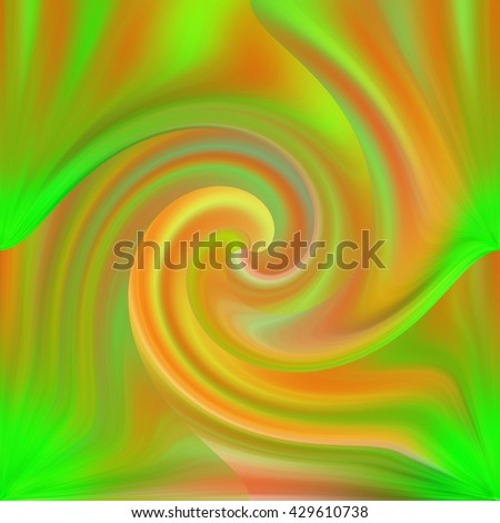 Neon green orange pink yellow wavy lines design abstract art modern cheery psychedelic background backdrop powerful mesmerizing swirl twist triangle