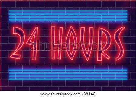 neon illustration - stock photo