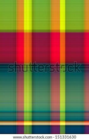 Neon Plaid Background - stock photo