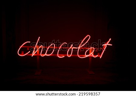 Neon sign Chocolate