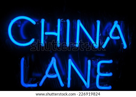 neon sign for road - stock photo