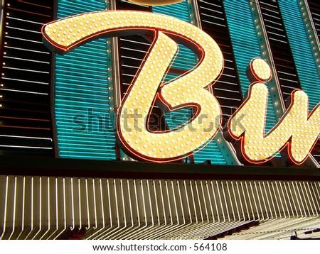 Neon sign in Las Vegas - stock photo