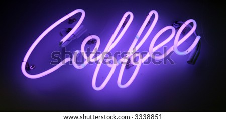 neon sign series coffee - stock photo