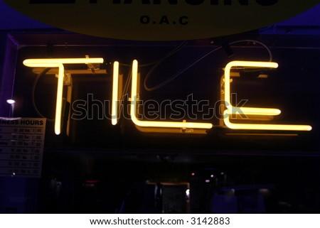 Neon Sign series  tile - stock photo