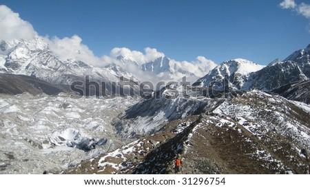 nepal himalaya expedition - stock photo