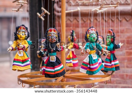 Nepal traditional dolls