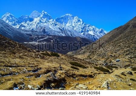 Nepalese Himalayas - stock photo