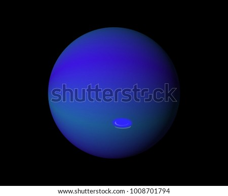 Neptune art graphic design, planet in solar system concept, background.