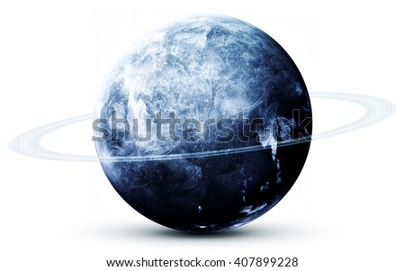 Neptune - High resolution 3D images presents planets of the solar system. This image elements furnished by NASA - stock photo