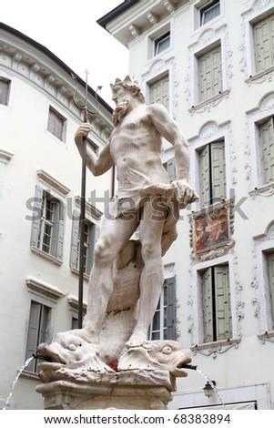 Neptune statue, Rovereto - stock photo