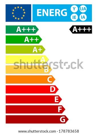 Ner European Union energy label - stock photo