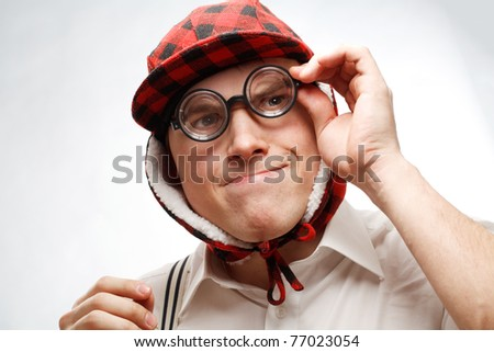 Nerd guy - stock photo