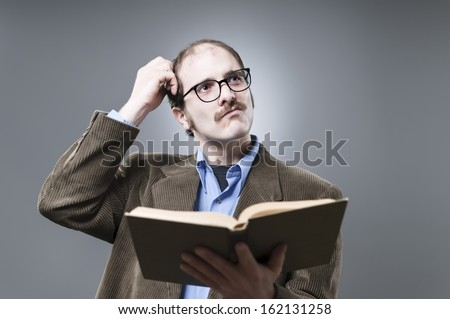 Nerdy Professor Lecturing - stock photo
