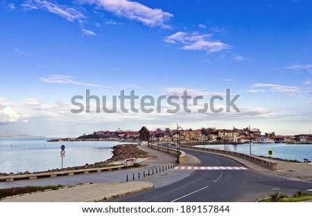 Nessebar city on the Black Sea - stock photo
