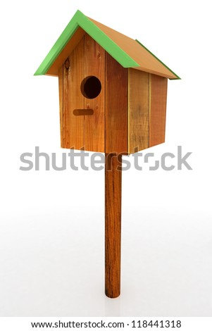 Nest box birdhouse - stock photo