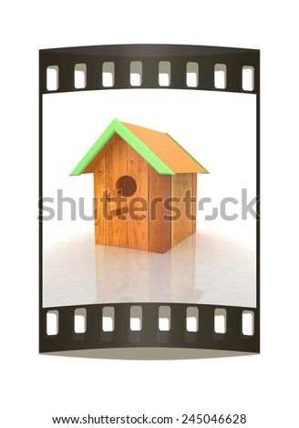 Nest box birdhouse. The film strip - stock photo