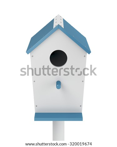 Nest box isolated on white background