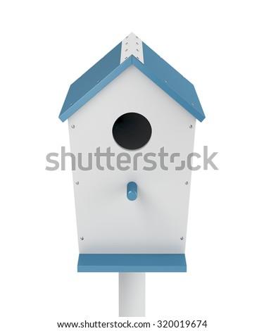 Nest box isolated on white background - stock photo