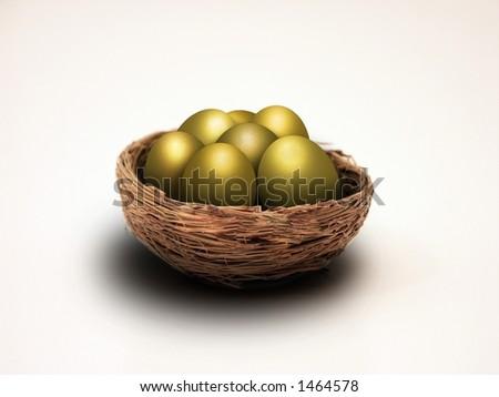 Nest eggs - stock photo