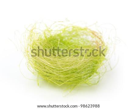 Nest isolated on white background - stock photo