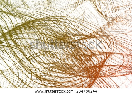nest of line on white background