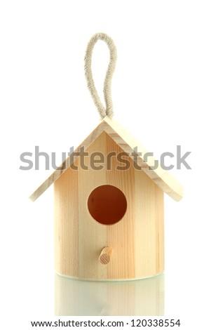 Nesting box isolated on white - stock photo