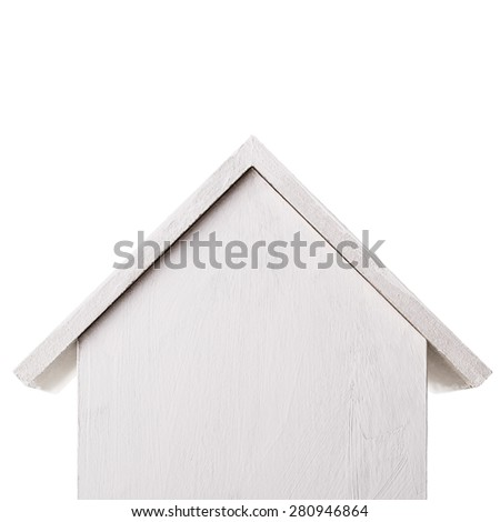 nesting box Isolated on white background - stock photo