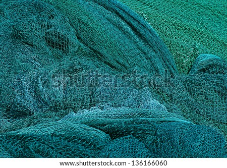 net for catching fish - stock photo