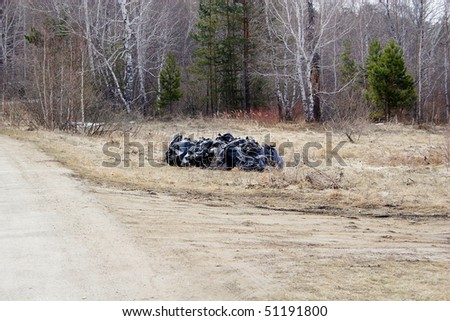 Net forest! - stock photo