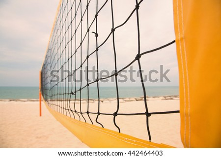 Net of beach volleyball court,color tone