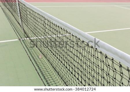 Net of tennis court. - stock photo