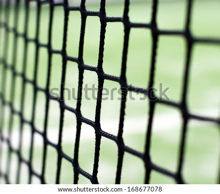 Net on the paddle court - stock photo