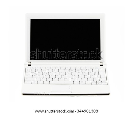 Netbook / laptop / notebook computer / pc isolated on white background - stock photo
