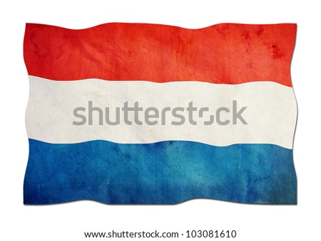netherland Flag made of Paper - stock photo