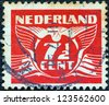 NETHERLANDS - CIRCA 1924: A stamp printed in the Netherlands shows it's value, circa 1924. - stock photo