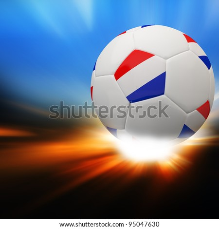 Netherlands flag on 3d football for Euro 2012 Group B
