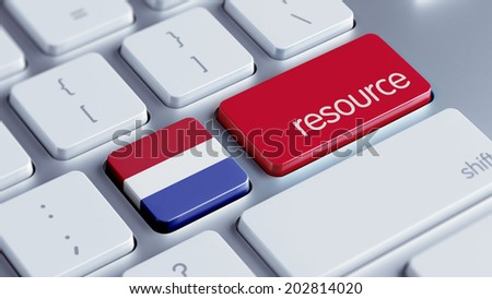 Netherlands High Resolution Resource Concept - stock photo