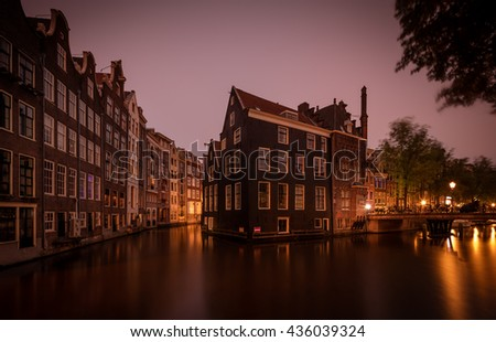 Netherlands - Holland - Amsterdam - Cityscape - Dawn - Sunrise
