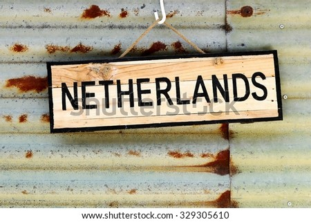Netherlands sign on a wall