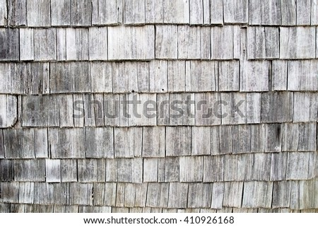 Netherlands traditional wooden tiled house wall, black-and-white