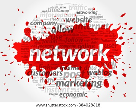 NETWORK business concept in word tag cloud - stock photo