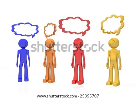 network chat - stock photo
