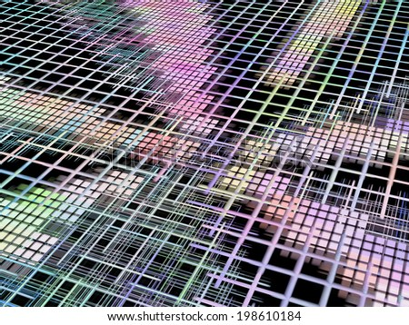 Network concept as abstract background.Digitally generated image. - stock photo