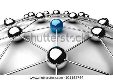 Network concept 3d render - stock photo