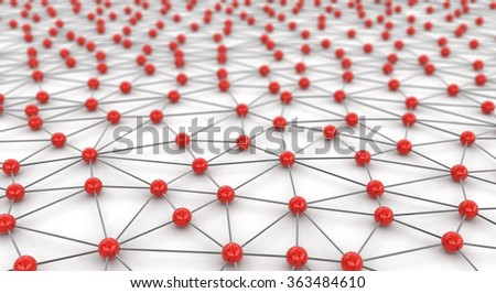 Network Concept. Image with clipping path.