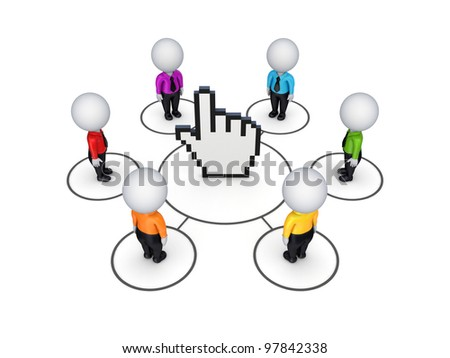 Network concept. Isolated on white background.3d rendered. - stock photo