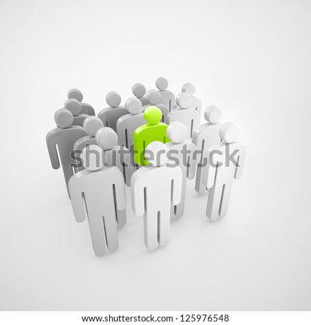 Network concept people - stock photo