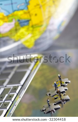 Network conception - stock photo