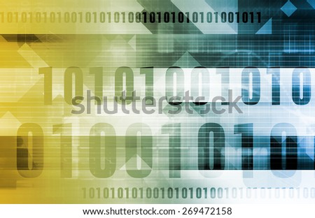 Network Data Stream Being Scanned and Moved background - stock photo