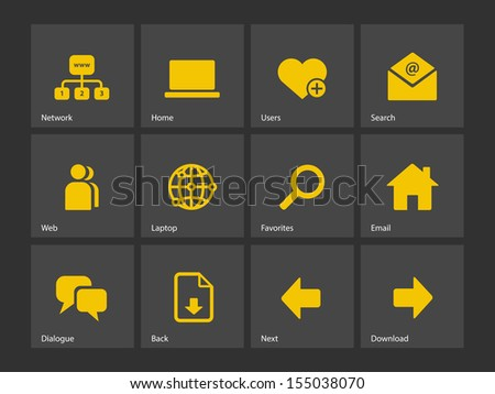 Network icons. See also vector version. - stock photo